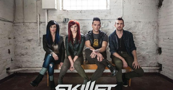The Band Skillet headlining the Sands Steel Stage at Musikfest on August 4