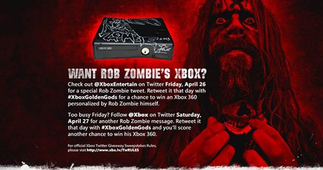 WANT ROB ZOMBIE's  Xbox ? Enter To Win!