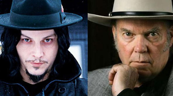Did Jack White & Neil Young record covers album together?