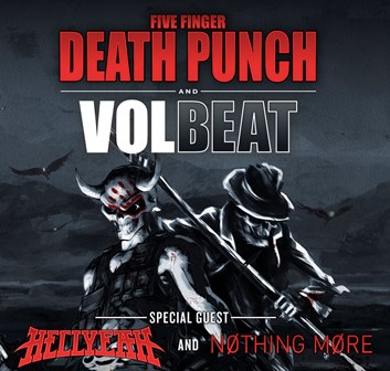 FIVE FINGER DEATH PUNCH / VOLBEAT – FALL 2014 TOUR DATES: