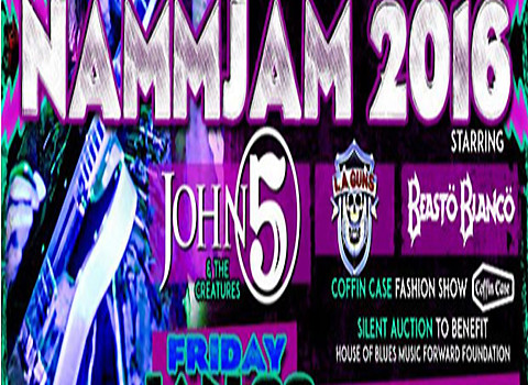 John 5 to Headline NAMMJam 2016 at Winter NAMM Show