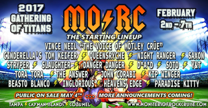 MONSTERS OF ROCK CRUISE 2017: GATHERING OF TITANS WILL SET SAIL FROM TAMPA IN FEBRUARY