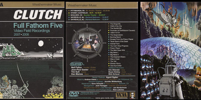"""CLUTCH RELEASE FIRST EVER WEATHERMAKER MUSIC RELEASE """"FULL FATHOM FIVE"""" ON VINYL"""